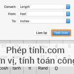 PhepTinh.com – Máy tính chuyển đổi công thức, tính toán online